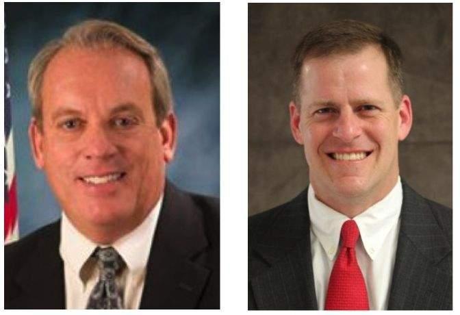 Dale Fowler (L) and Paul Schimpf will co-host a town hall forum next week in Carbondale.