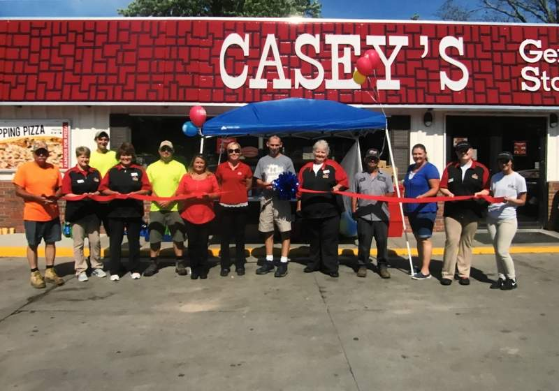 Staff and friends gathered June 16 to cut a ceremonial ribbon in honor of the grand reopening of the Casey's General Store in Tamaroa. The store, which has been in Tamaroa for 25 years, currently is managed by Cheryl Wright.