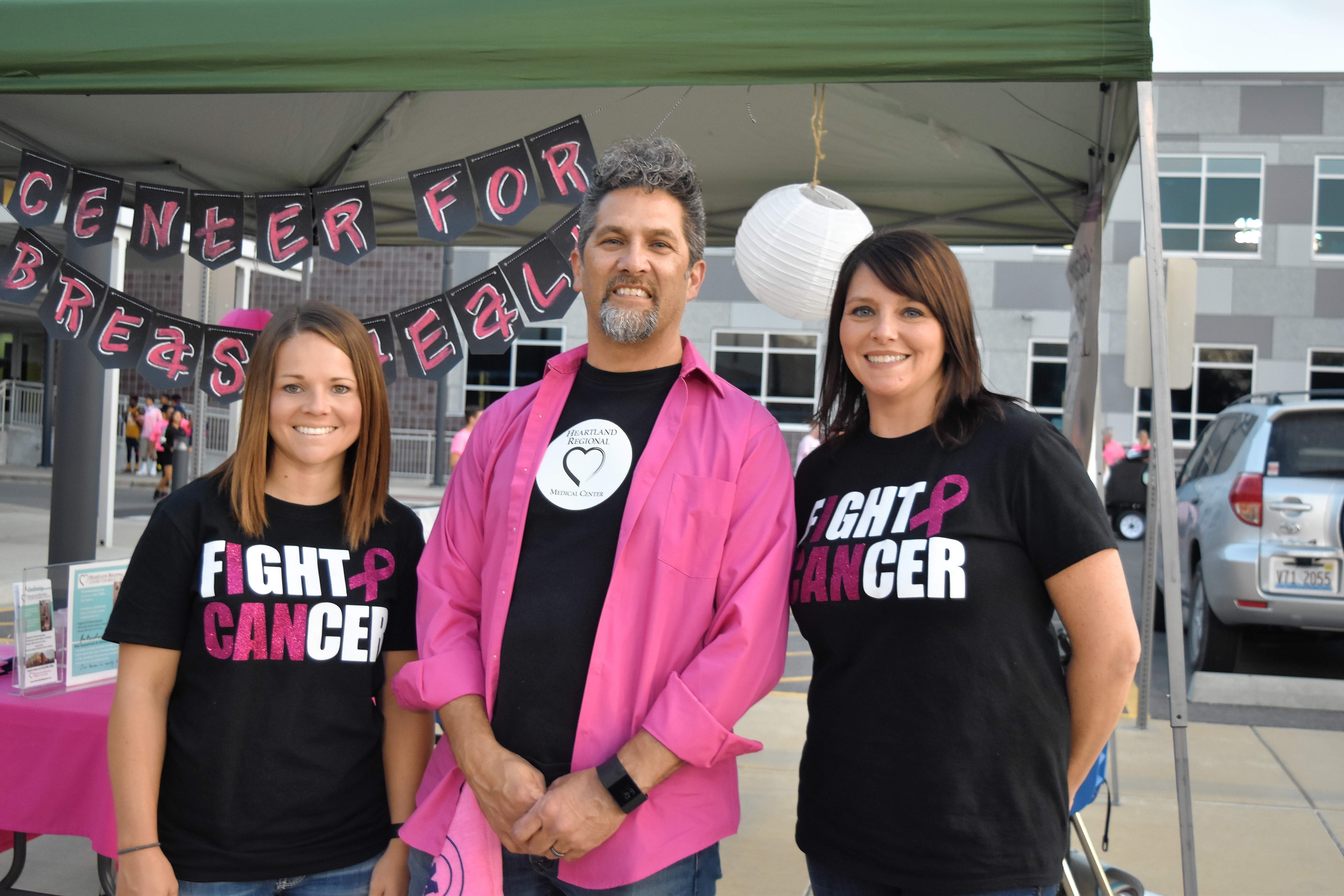 From left, Heartland Regional Medical Center's Shelbi Belcher, radiology technician, Herby Voss, public relations director, and Teresa George, radiology technician.