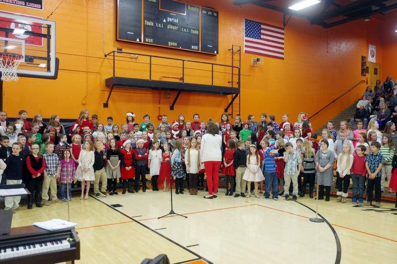 Third and fourth graders take the stage at the Chester Grade School 1st through 4th grade Christmas Program on December 14.