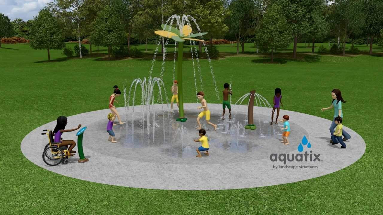 An illustration of the proposed Splash Pad in Longfellow Park in Murphysboro.