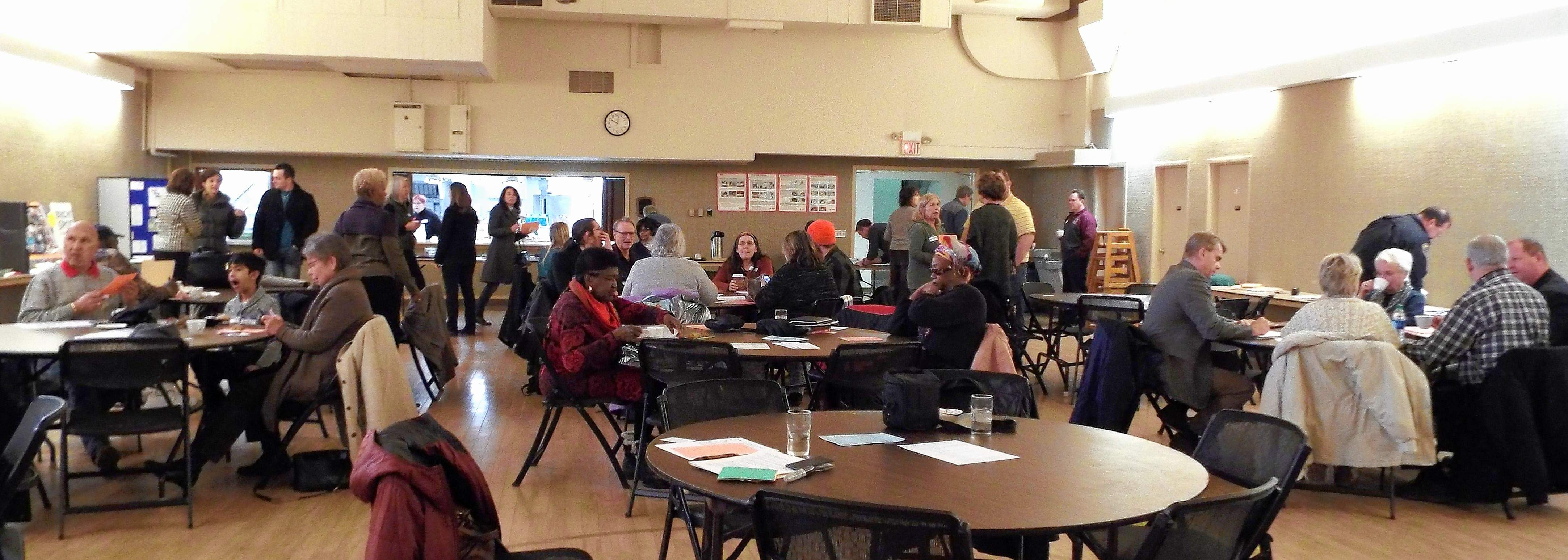 Dozens of Carbondale residents braved the frigid temperatures and icy conditions to come to the annual meeting of the Neighborhood Alliance Saturday at First United Methodist Church.