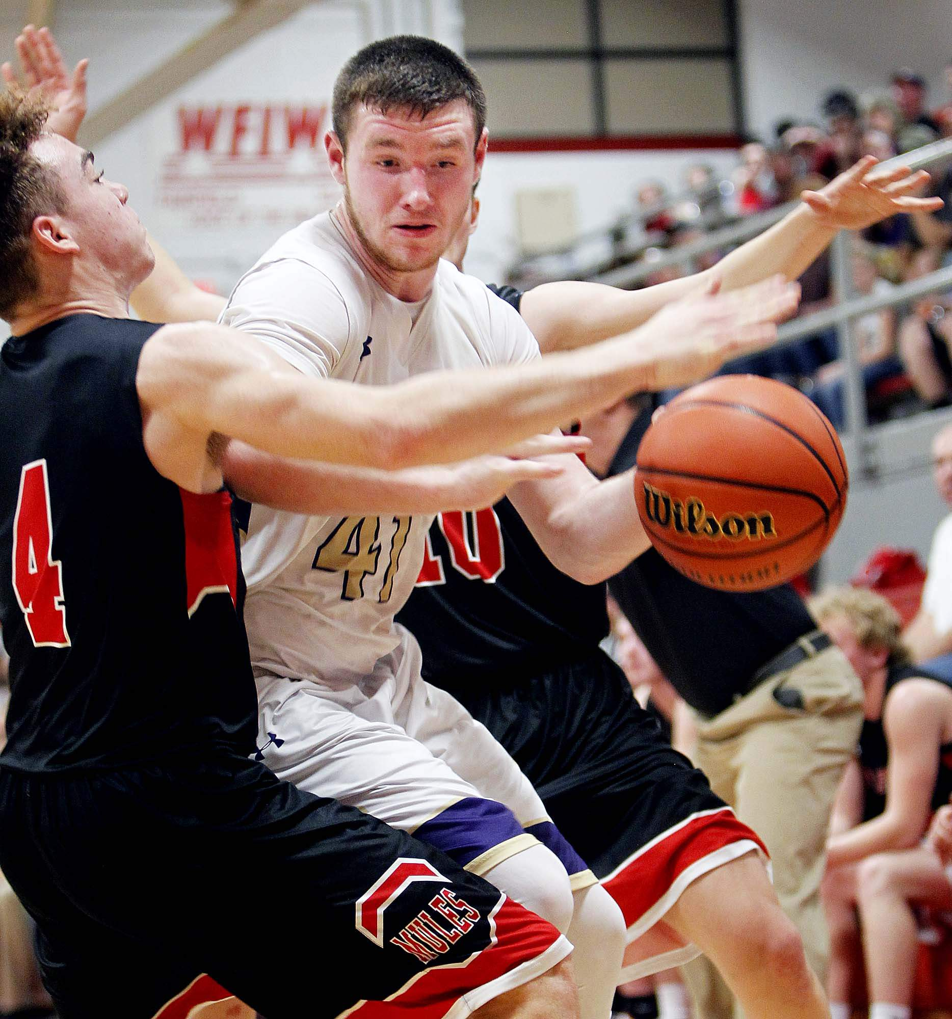 Braden Attebury had a career-high 29 points in Eldorado's 71-57 win over Fairfield during Tuesday's IHSA Class 2A Regional Semifinal at Fairfield High School. Attebury had 20 second half points in helping the Eagles back to the regional title game for a second straight season.