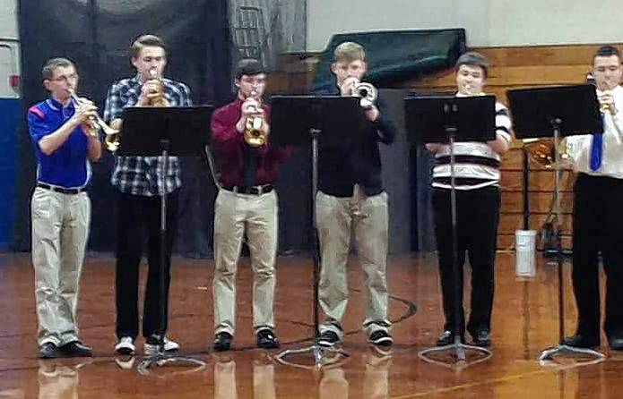 "The Chester High School Brass Choir performed ""Sourwood Mountain"" March 3 at the 2018 IHSA State Solo and Ensemble Contest at Nashville. The 12-person ensemble earned a first place ""Superior"" rating for their performance."