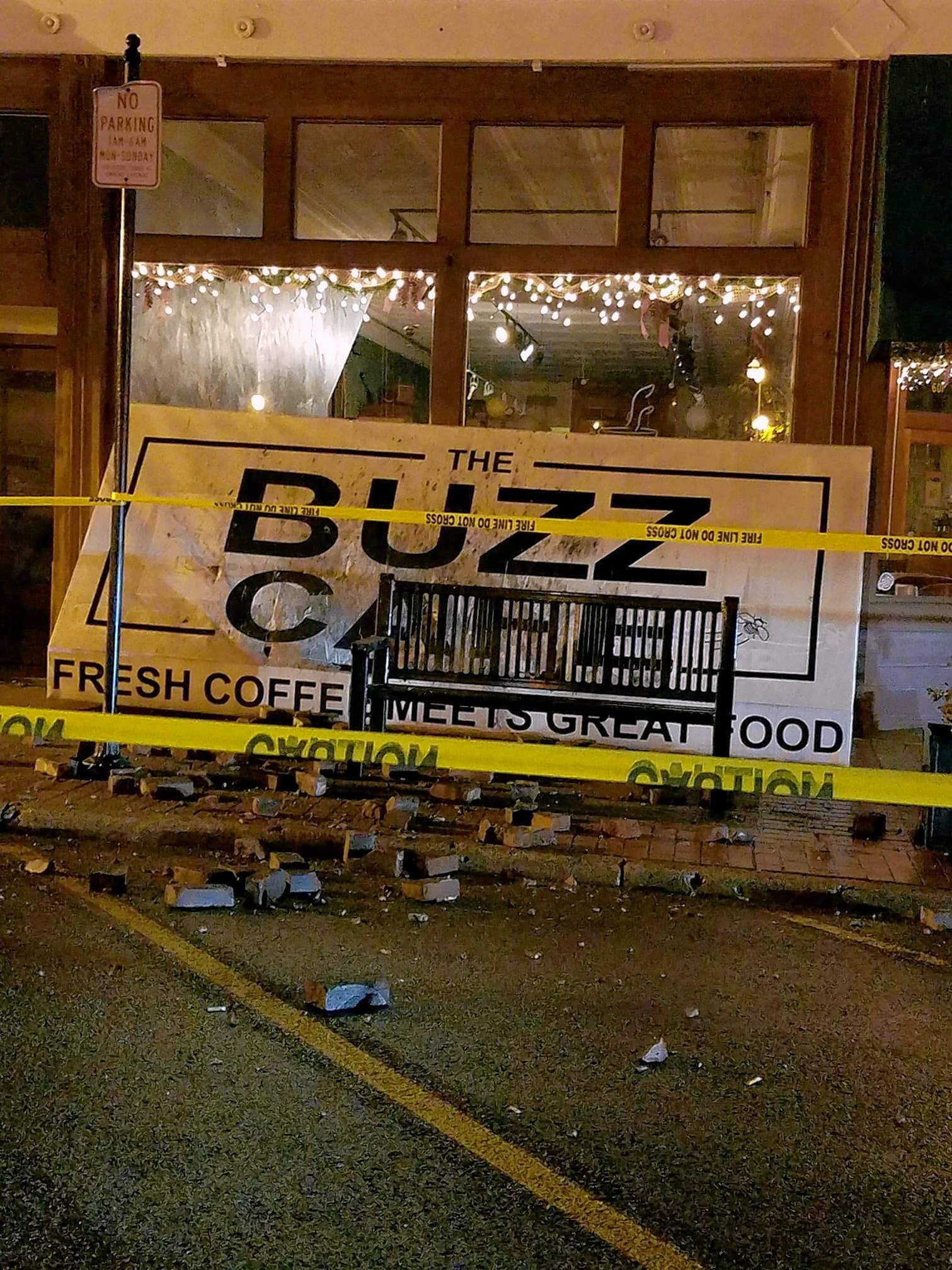 The Buzz was forced to close its doors Feb. 21 after bricks from the top of the building fell, damaging the awning. What was intended to be only a day or two of closure turned into nearly two weeks.