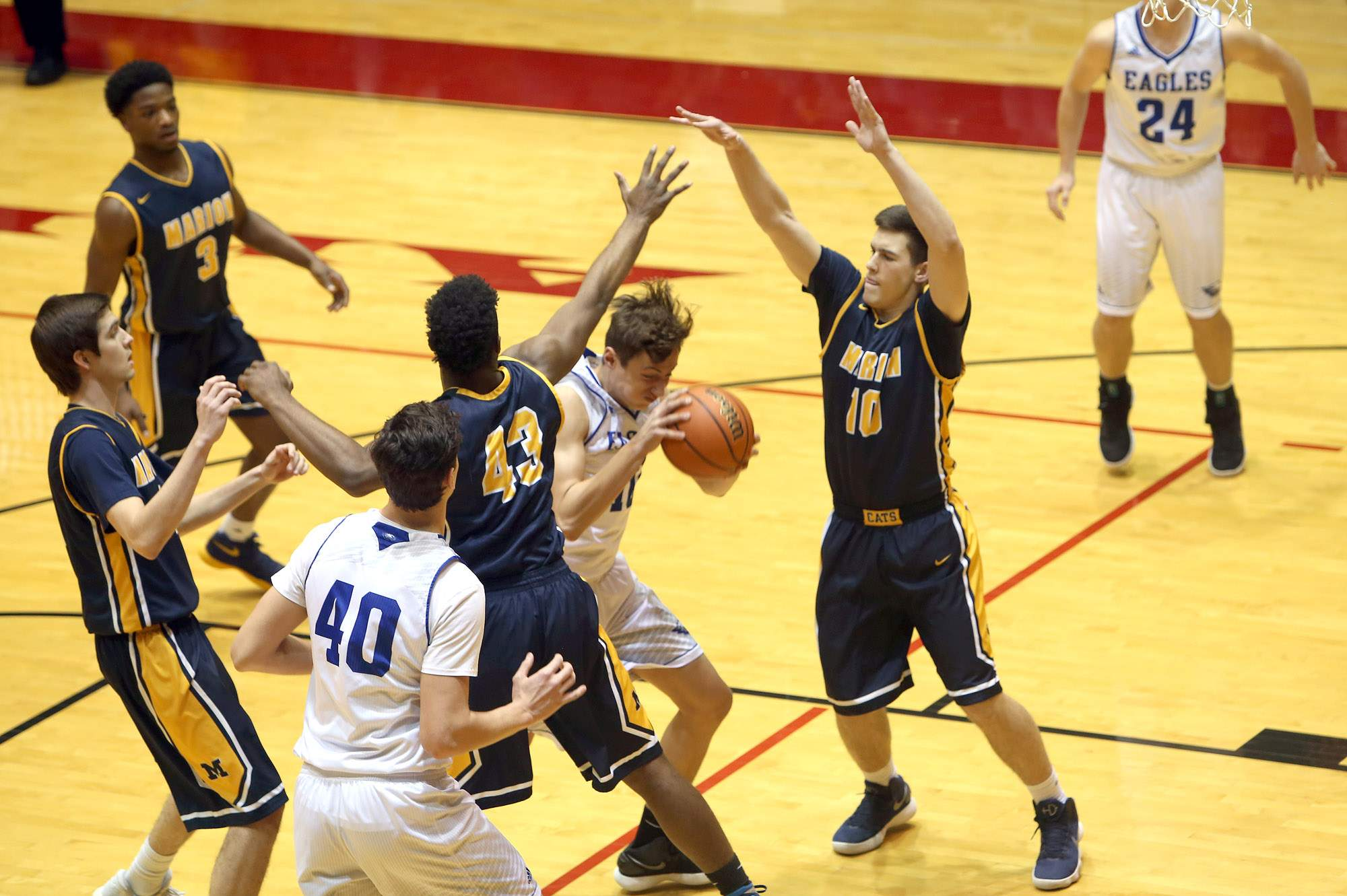 Marion's defense put the clamps on Columbia in Tuesday's semifinal game at the Centralia Sectional.