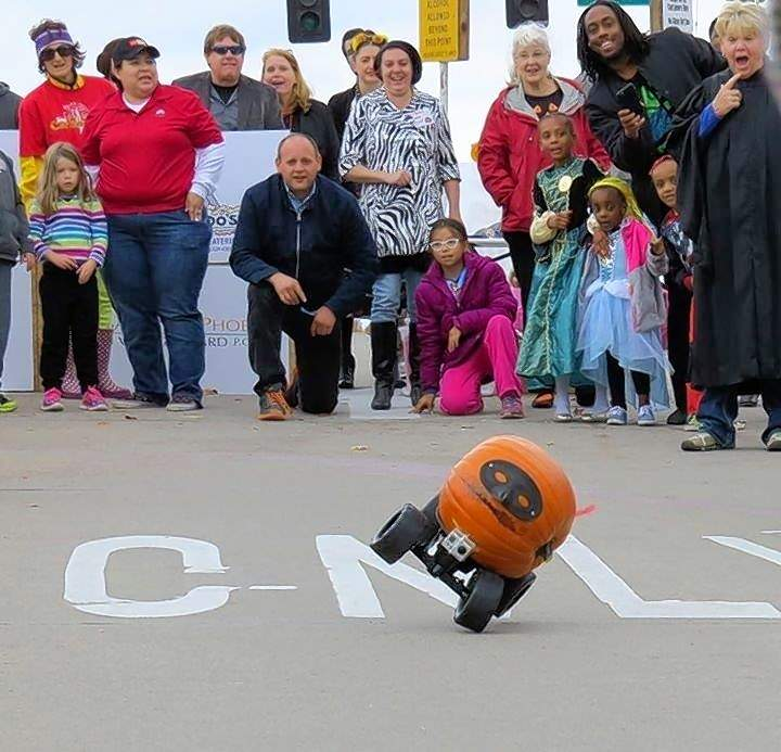 Pumpkin racing is among the more family-minded Halloween activities that have emerged in Carbondale in recent years.