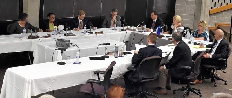Members of the SIU Board of Trustees meet Wednesday at the SIU School of Medicine in Springfield.