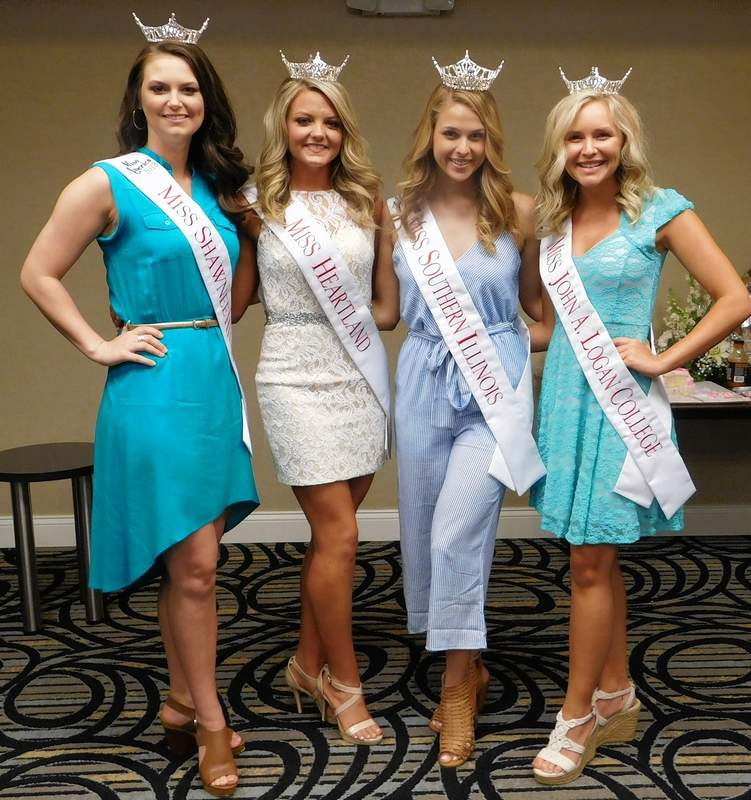 Mandy March, Breana Bagley, Brittany Albrecht, and Darcy Dreyer will compete in the Miss Illinois pageant this week at the Marion Cultural and Civic Center.  Miss Illinois will advance to the Miss America pageant.