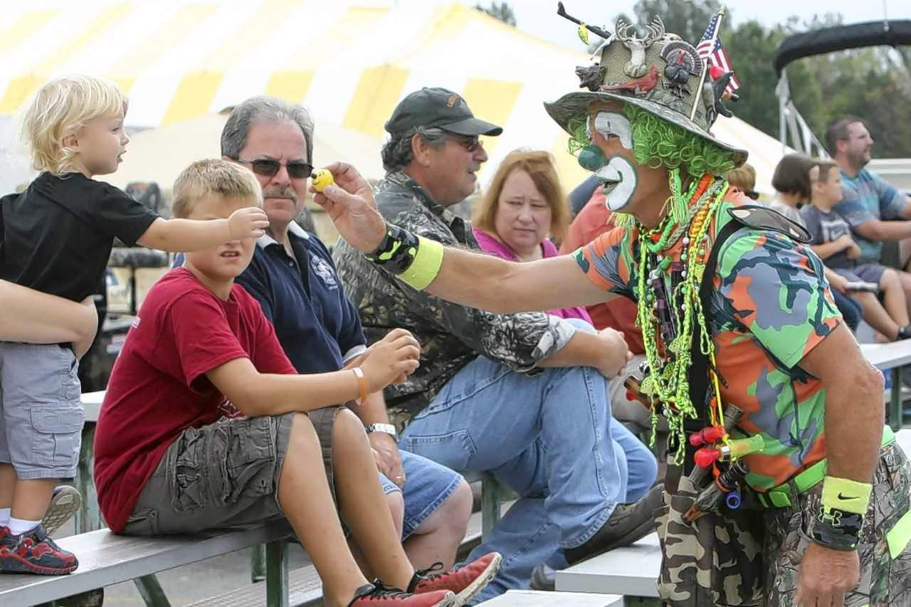 Camo the Conservation Clown will again make an appearance at the annual Hunting and Fishing Days celebration at John A. Logan College this weekend. Camo will be entertaining kids of all ages.
