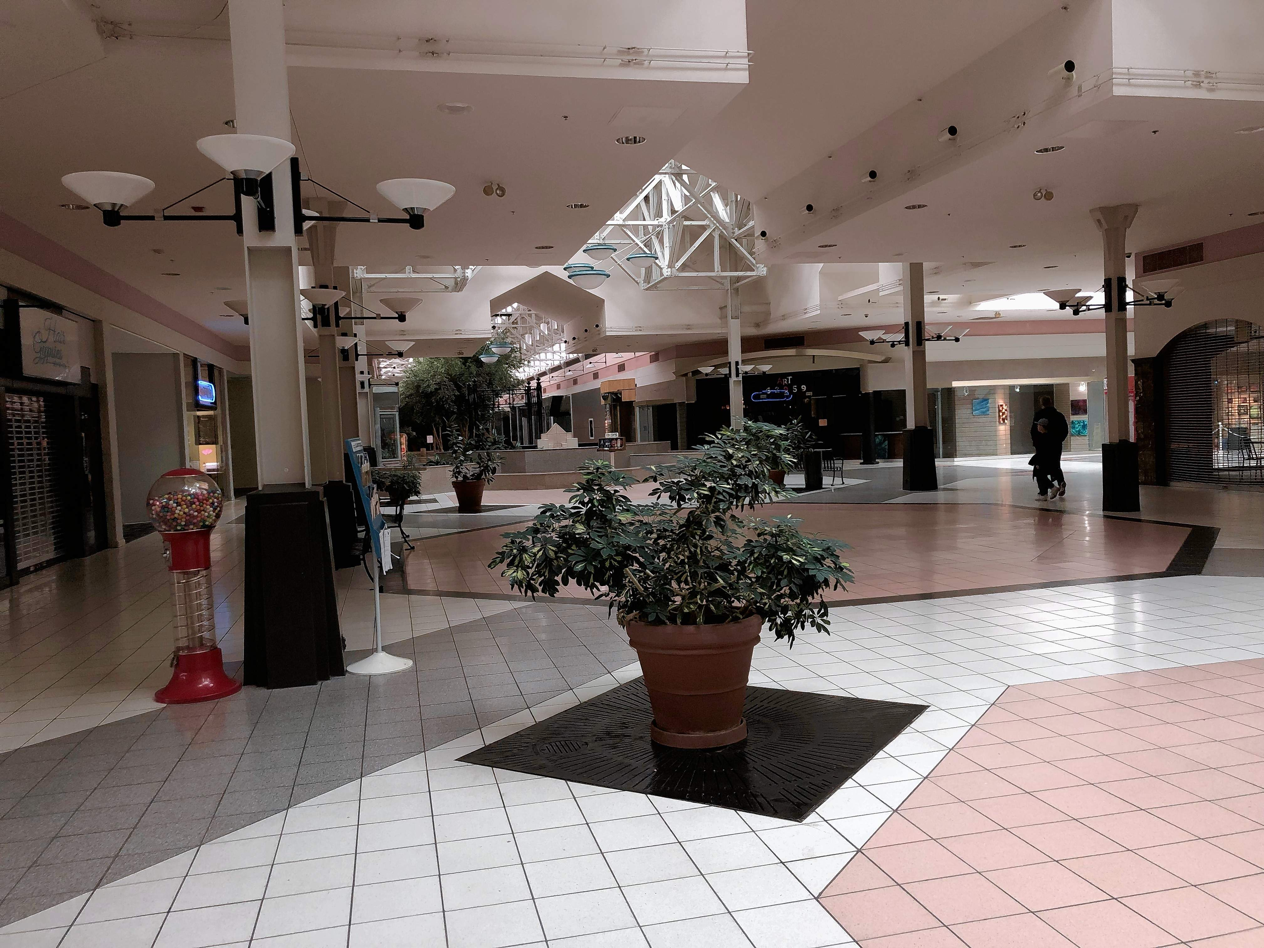 """What was once a bustling shopping mecca in the """"Hub of the Universe"""" was nearly deserted on Sunday afternoon."""