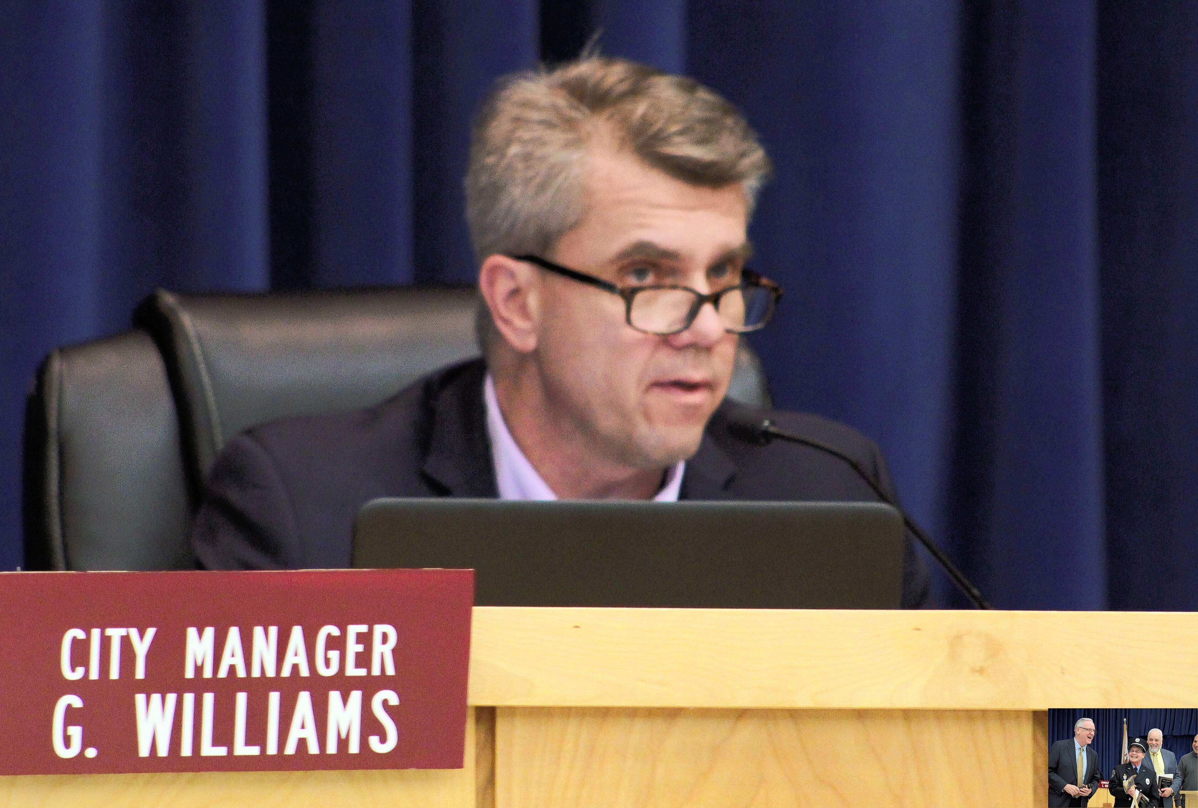 City Manager Gary Williams speaks during Tuesday's city council meeting.