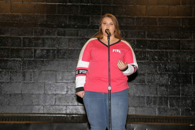 "Bailee Wright performs her championship cover of ""Stay"" at the CMSF talent show."