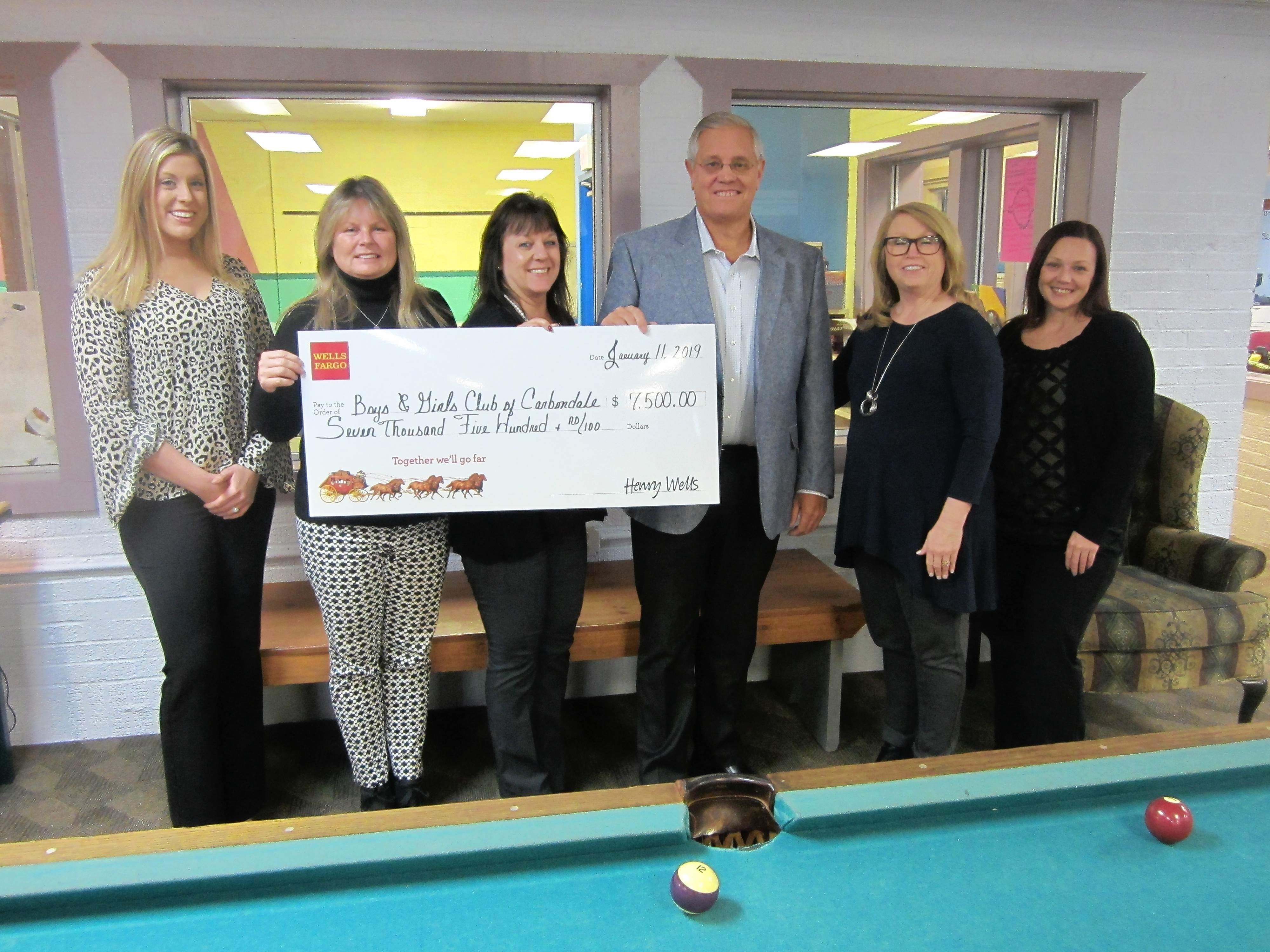 The Boys and Girls Club of Carbondale has been awarded a $7,500 Wells Fargo grant.