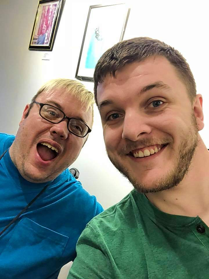 Granger Odum, left, and Zach Stout, founders of Chaotic ORder Productions, hope to add their unique vision to the list of theater groups in Southern Illinois.