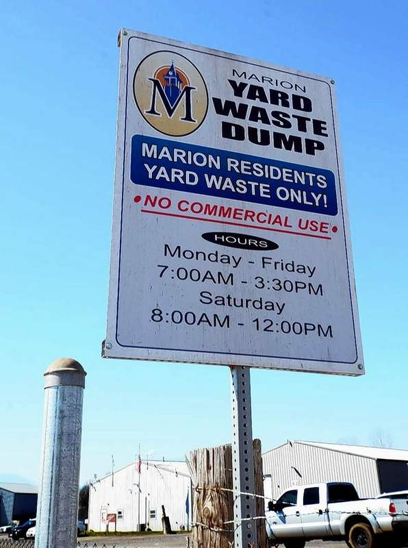 The City of Marion offers free yard waste disposal six days a week to local residents only.