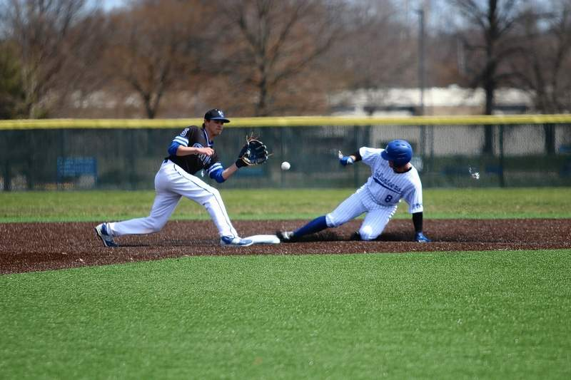 JALC''s Luke Brown slides safely into second base in game action Saturday at home.