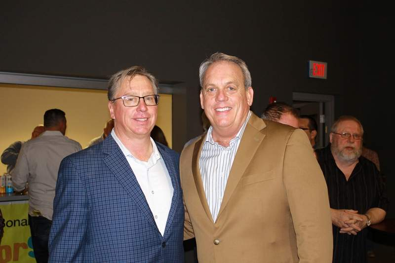 From left, Taste of SI founder Michael Tison of Harrisburg and state Sen. Dale Fowler of Harrisburg said the 21st Taste of SI will help clothe numerous children across southern Illinois.