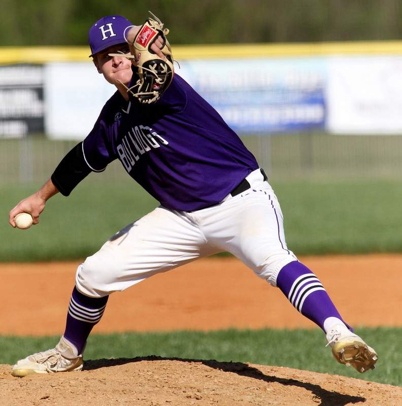 Noah Boon went five innings and struck out eight in Harrisburg's 14-3 win over Herrin Monday. Boon scattered six hits, while allowing two earned runs.