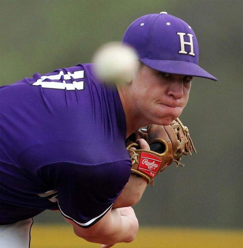 Harrisburg's Isaac Crabb threw a shutout in the Bulldogs' win over Massac County Tuesday. The junior struck out seven and scattered six hits in the victory that won Harrisburg the Ohio Conference crown for the first time since 2013.