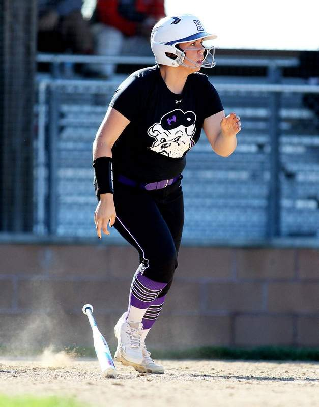 Kerrigan Payne went 3-for-3 with two home runs and seven RBI in Harrisburg's 15-1 win over Anna-Jonesboro Monday.