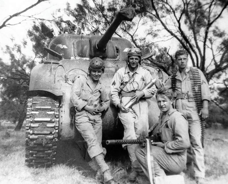 Walter Trojana, right, with fellow soldiers during WWII.