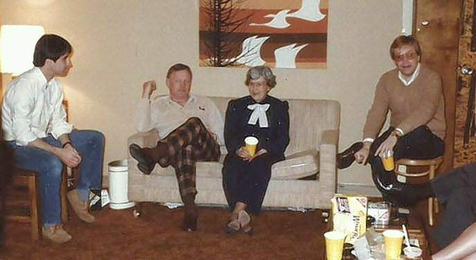 Mike Trude, left, with Neil Armstrong, Carolyn Trude and Mike's brother-in-law David Arnott.