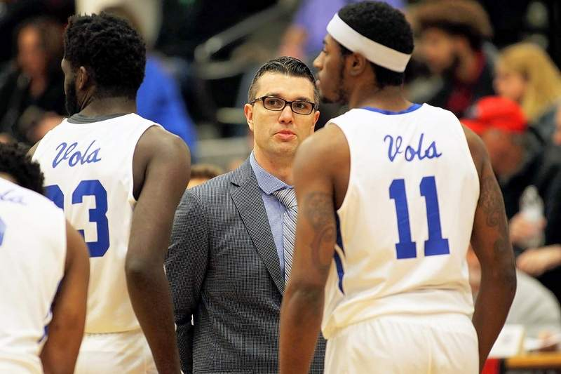 SPYDER DANN | mdann@dailyregister.comJohn A. Logan college head coach Kyle Smithpeters recently put the finishing touches on this year's men's basketball schedule that the Harrisburg native calls this year's slate difficult and demanding.