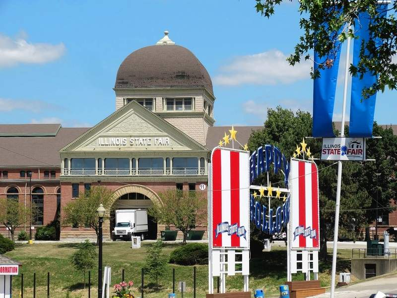 The Exposition Building at the Illinois State Fair in Springfield was built in 1894, making it the oldest building on the fairgrounds. About 63,000 square feet, the Expo is also the largest building on the grounds. The fair runs Aug. 8-18.