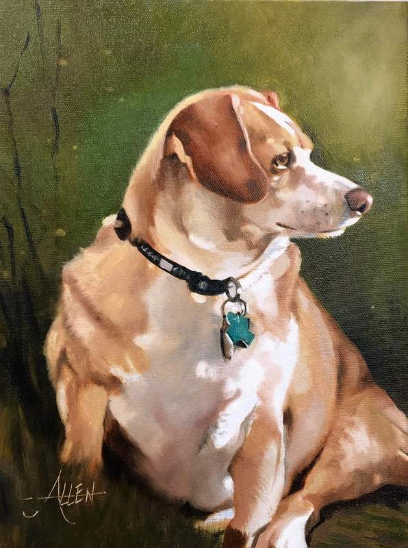 This painting by local artist Barb Allen is among the raffle prizes to be awarded this fall.
