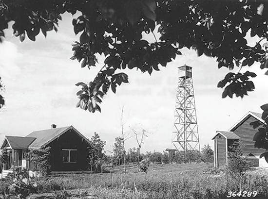 The fire tower at Williams Hill may be seen in this image from 1938.