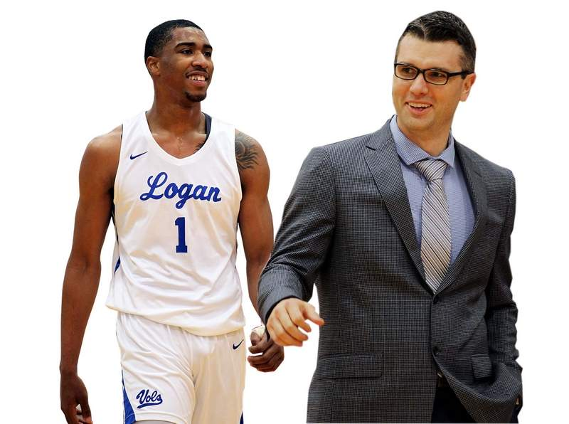 Jay Scrubb (left) was named preseason Player of the Year by Street & Smith's magazine, while Kyle Smithpeters (right) and the John A. Logan men's basketball team picked up a preseason No. 3 ranking by the magazine.