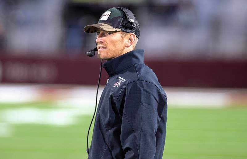 SIU head football coach Nick Hill addressed the media Monday.