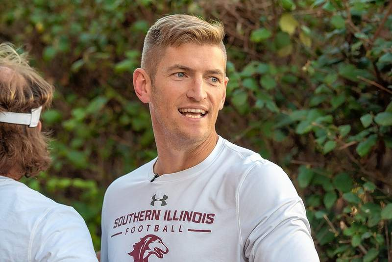 SIU head football coach and Du Quoin native Nick Hill addressed the media Monday.