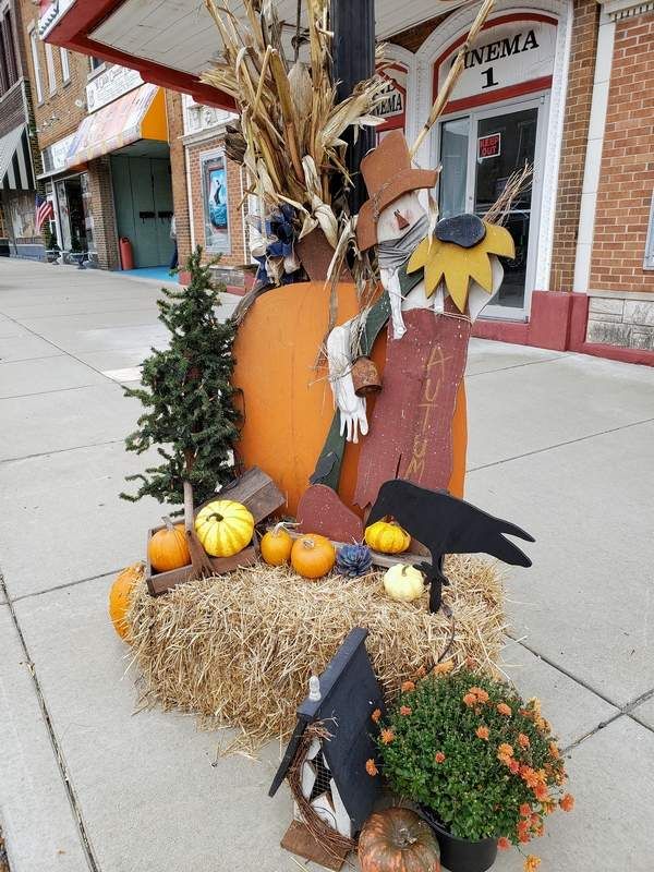 A fall tableau, not scary at all, just charming.
