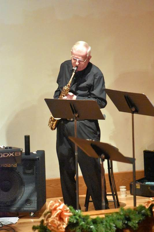 Greg Hodson plays a solo during The Penguins' Cole Porter revue Monday night.