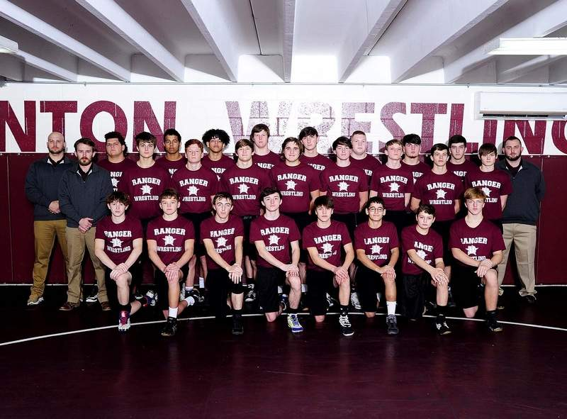 The 2019-2020 Benton High School Varsity Wrestling Team.