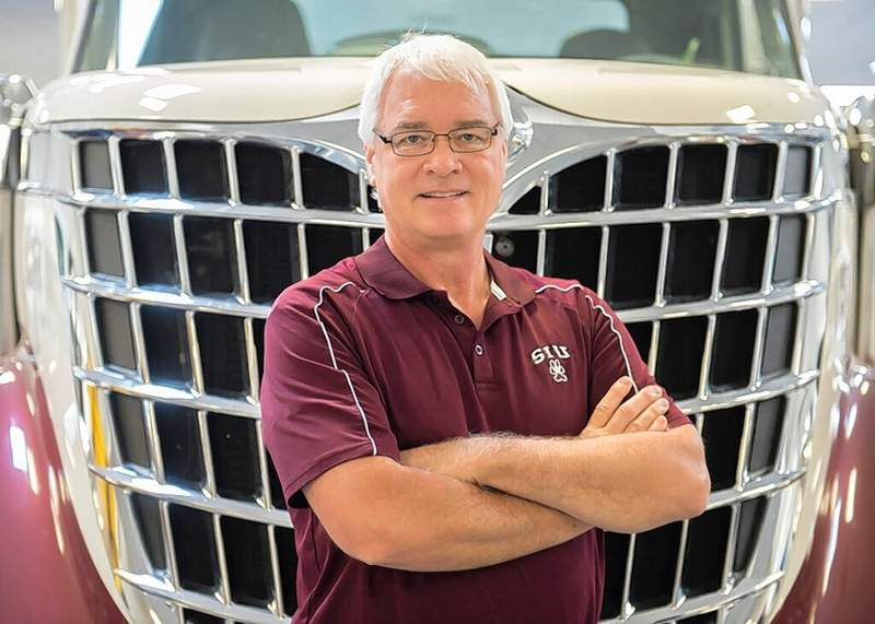 Russell Bailey photoMichael Behrmann, SIU's 2020 Simon Distinguished Faculty Award recipient, has spent more than 35 years with the nationally recognized automotive program as a student, instructor, assistant and associate professor, and department chair.
