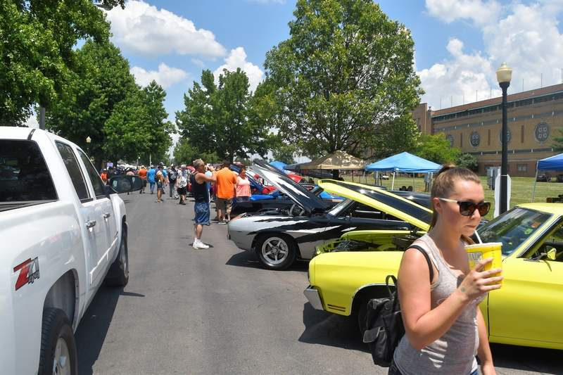 Hundreds of cars and thousands of spectators line the roadways inside the Du Quoin State Fairgrounds for the annual Street Machine Nationals, which is expected to return in 2021.