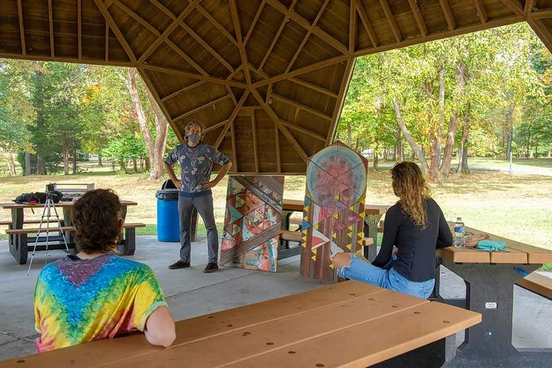 Artist and curator Benjamin Lowder is working on an art installation at Bucky's Haven on the SIU campus, and he will present a virtual lecture and discussion Oct. 28.