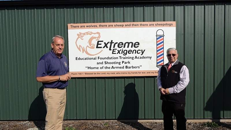 Sen. Dale Fowler and Extreme Extigency owner Ray Minor.
