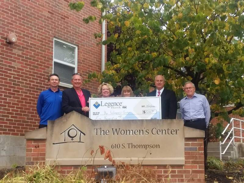The Women's Center, headquartered in Carbondale, is among the recipients of COVID-19 relief distributed by Legence Bank.