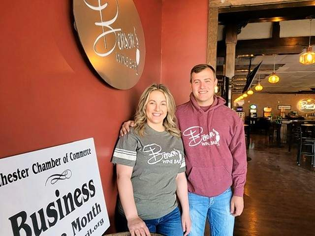 Siblings Bob and Chelsea Schroeder have made Benson's Wine Bar an attractive place to hold gatherings, or to just stop in for a drink.