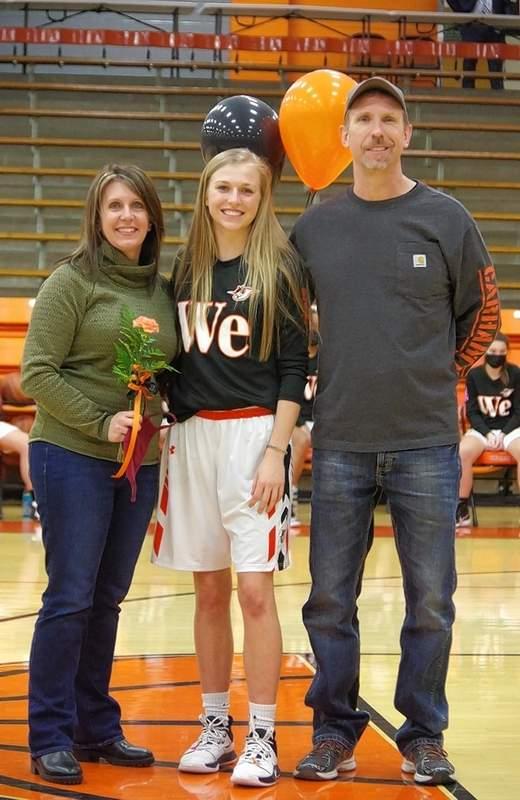 Josie Kattenbraker, and parents Phil and Shannon Kattenbraker.