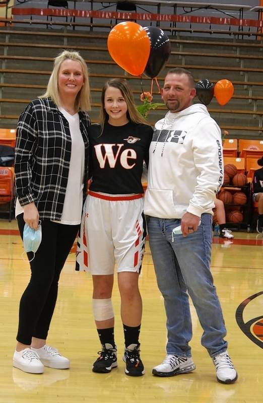 Kendall Williams, and parents Nathan and Tara Williams.