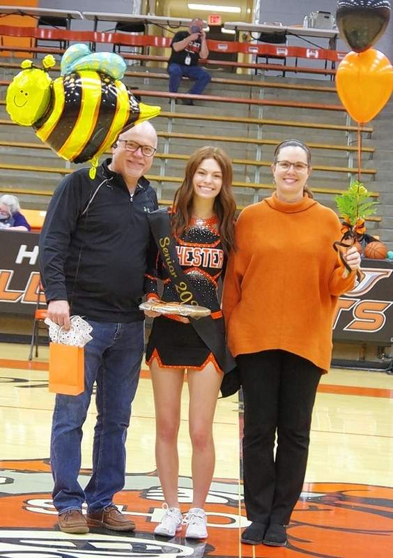 Lauren Soellner, and parents Larry and Melissa Soellner.