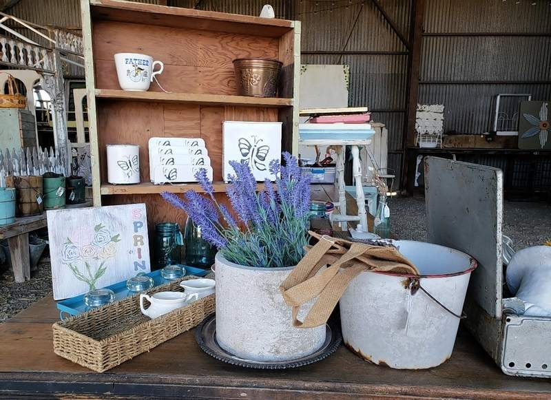 Odd bits and pieces are around the barn. Some of them were found by Stacey; others by vendors and consignment dealers.