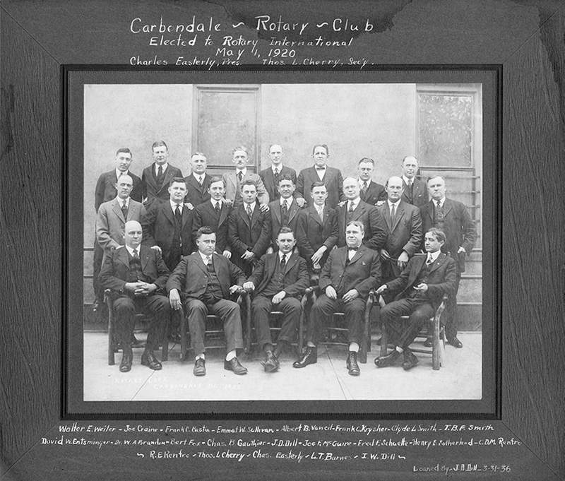 The founding members of the Rotary Club of Carbondale